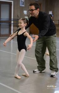 Alan Hineline coaching a student