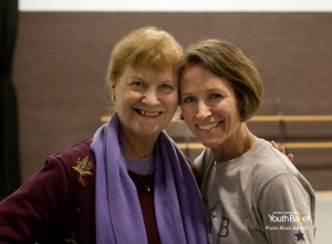Tina LeBlanc with Central Pennsylvania Youth Ballet Founding Artistic Director Marcia Dale Weary.