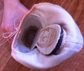 Break in new pointe shoes CPYB Step 8