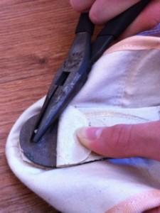 Break in new pointe shoe CPYB Step 4